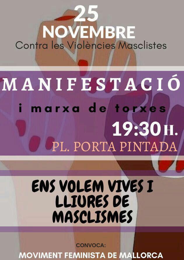 25N: Manifestació i marxa de torxes (25-11-17)